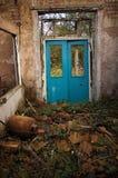 голубые двери Стоковые Изображения