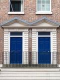 голубые двери 2 Стоковое Изображение