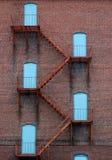 голубые двери Стоковое Изображение