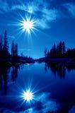 голубые двойные звезды Стоковое Изображение RF