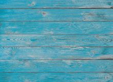 Голубые деревянные планки текстура или предпосылка Стоковые Изображения RF