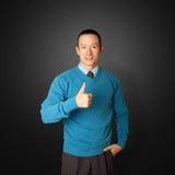 голубые детеныши бизнесмена Стоковое Изображение RF
