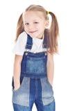 голубые джинсыы девушки немногая сь Стоковые Фотографии RF