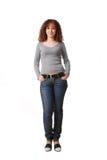 голубые джинсыы девушки Стоковое фото RF