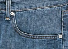 голубые джинсыы крупного плана Стоковое Изображение RF