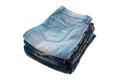 голубые джинсы много белизна Стоковые Изображения