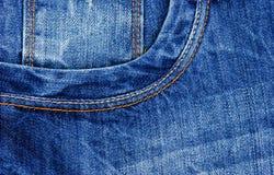 голубые джинсы предпосылки Стоковое Изображение RF