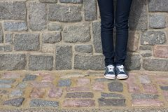 голубые джинсы Стоковое Изображение