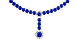 голубые диаграммы конструируют gemstone Стоковое Фото
