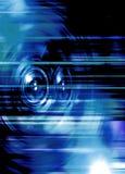 Голубые дикторы музыки Стоковое Изображение
