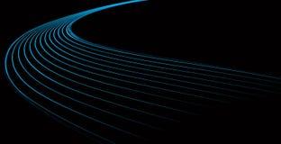 голубые динамически волны Стоковые Изображения