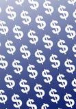 голубые доллары Стоковая Фотография RF