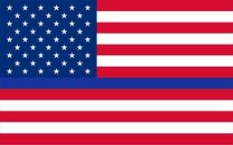 Голубые жизни имеют значение полиция США американская флаги удостаивают работников правоохранительной службы ЛЕО Видимые звезды и иллюстрация штока