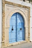 голубые закрытые двери тунисские Стоковые Изображения