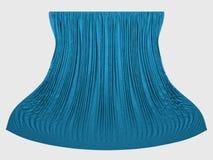 голубые занавесы Стоковое Фото