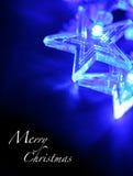 голубые звезды рождества Стоковая Фотография RF