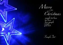 голубые звезды рождества Стоковое Изображение