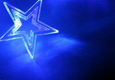 голубые звезды рождества Стоковая Фотография