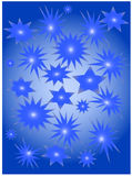 голубые звезды Иллюстрация штока