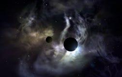голубые звезды космоса Стоковое Фото