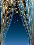 голубые звезды этапа Стоковые Изображения RF