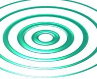 голубые зеленые волны Стоковые Фотографии RF