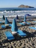 голубые зонтики Стоковые Фотографии RF
