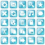 голубые иконы льда Стоковое фото RF