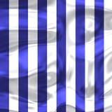 Голубые и белые нашивки с яркими тенями Стоковые Изображения