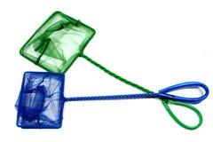 Голубые и зеленые сети рыб Стоковая Фотография