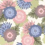 голубые и розовые цветки бесплатная иллюстрация