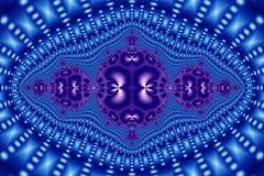 Голубые и фиолетовые сферы на голубой картине Стоковое Изображение RF