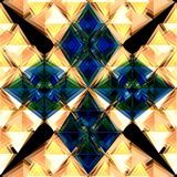 голубые камни цветка Стоковая Фотография