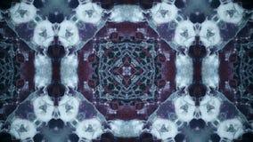 Голубые картины последовательности калейдоскопа Абстрактная пестротканая предпосылка графиков движения Безшовная петля иллюстрация вектора