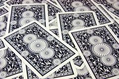 голубые карточки Стоковые Изображения RF