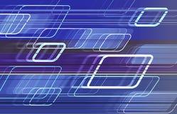 голубые квадраты движения Стоковое Фото