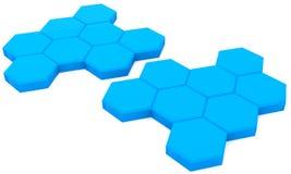 голубые клетки Стоковые Фотографии RF
