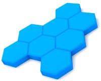голубые клетки Стоковые Фото