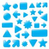 Голубые кнопки сети Стоковые Изображения