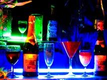 голубые коктеилы Стоковые Фотографии RF