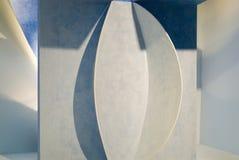голубые конструированные стены белые Стоковое фото RF