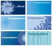 голубые конструкции визитной карточки Стоковая Фотография