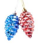 голубые конусы красные Стоковая Фотография RF