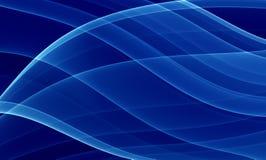 голубые кривые глубоко Стоковые Фото