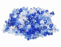 голубые кристаллы смешали tranparent фиолет Стоковая Фотография