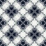 Голубые круги, картина геометрического вектора безшовная Стоковая Фотография