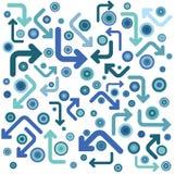 голубые круги Стоковые Изображения RF