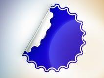 Голубые круглые неровные стикер или ярлык Стоковые Изображения