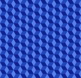 Голубые кубики делают по образцу предпосылку иллюстрация вектора