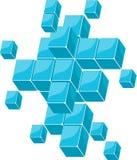голубые кубики Стоковое Изображение
